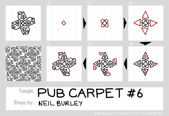 Pub Carpet 6 tangle pattern