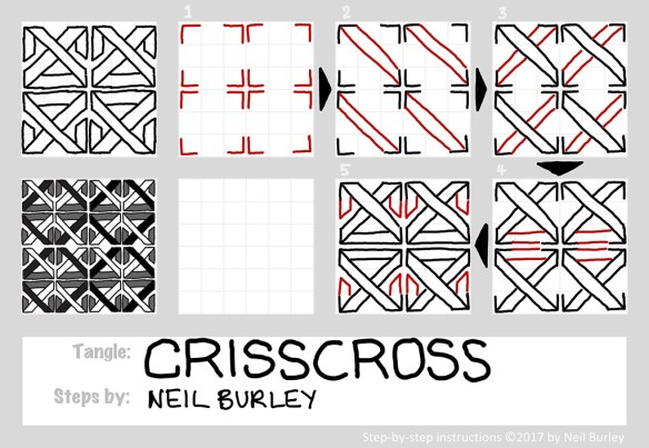 Criss Cross tangle pattern