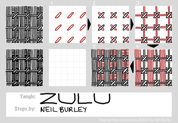 Zulu tangle pattern