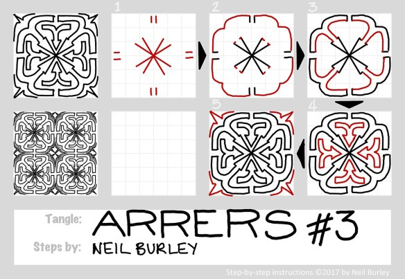 Arrers #3 tangle pattern