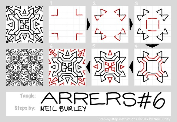 Arrers 6 tangle pattern