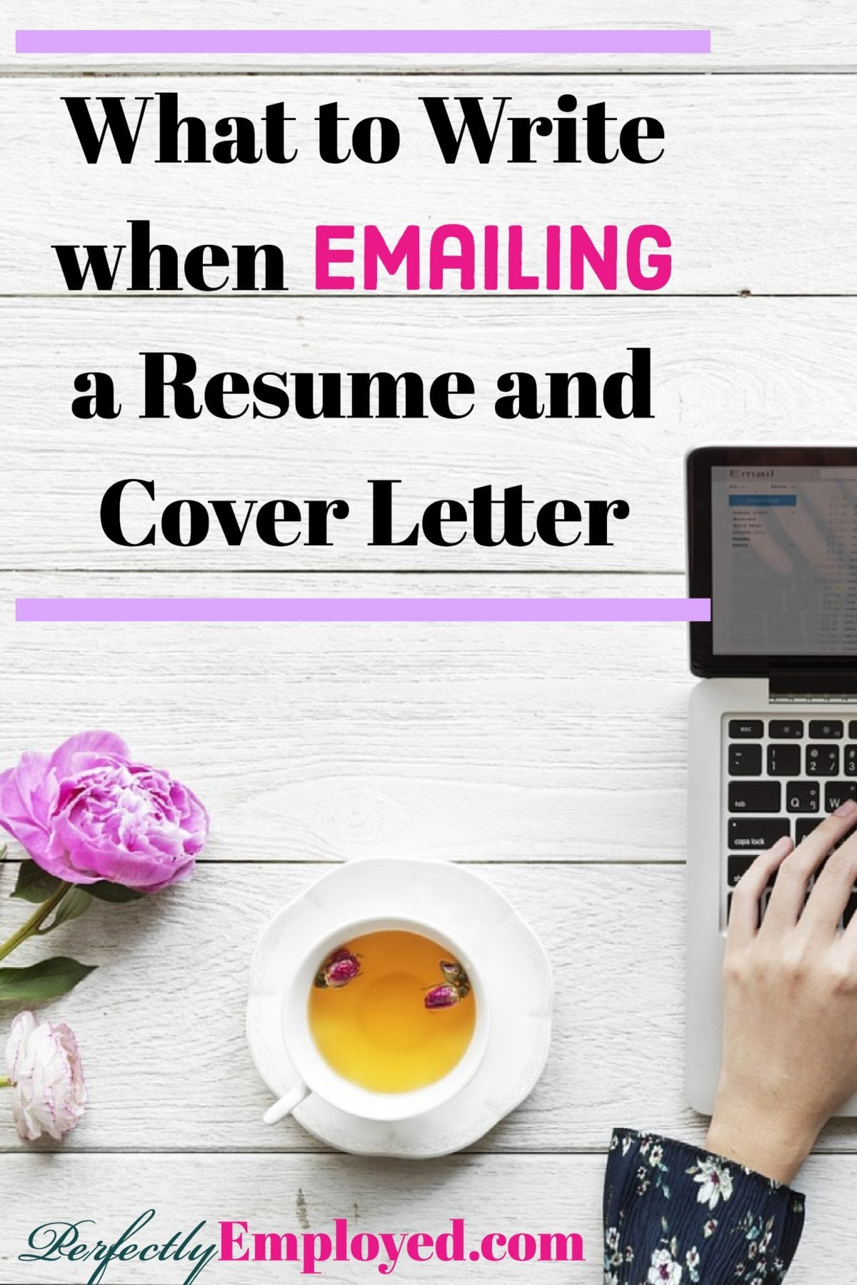 when emailing a resumes