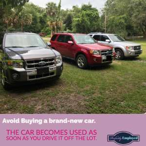 Avoid Buying a brand-new car