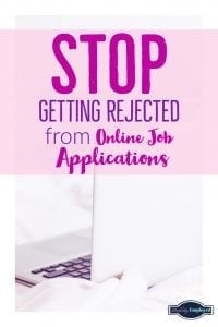 Stop getting rejected from online job applications