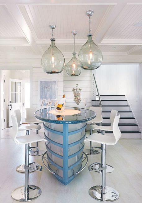 Demijohn Lights, Antique Lights, Decorating with vintage glass, vintage glassware, demijohn, using demijohns