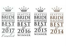 Winner of Best Wedding Planner and Best Wedding Vendor in Seattle Bride Magazine Best of Awards