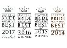 Winner of Best Wedding Planner and Best Wedding Vendor in Seattle Bride Magazine Best of Awards