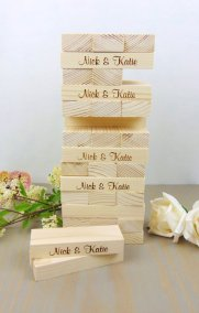 Esty Jenga | YourWeddingProject |Perfectly Posh Events