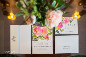 Seattle Tennis Club wedding in Seattle | Vibrant floral invitation suite | Perfectly Posh Events, Seattle Wedding Planner | JTobiason Photography | Sublime Stems | Minted | Wedding Paper Divas