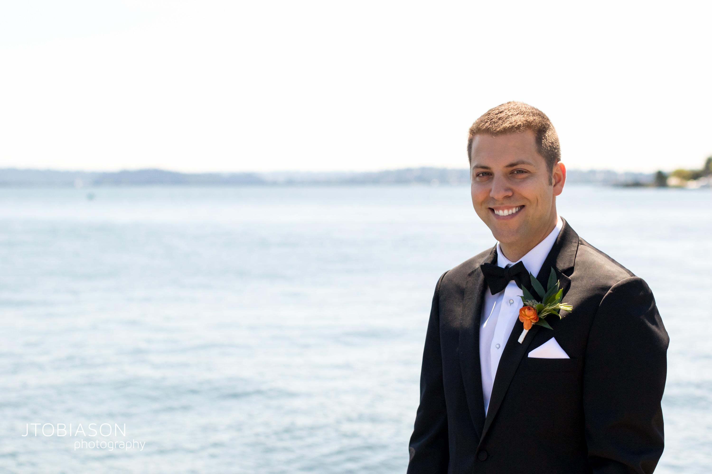 Seattle Tennis Club wedding in Seattle | Seattle groom in Men's Warehouse tux | Perfectly Posh Events, Seattle Wedding Planner | JTobiason Photography