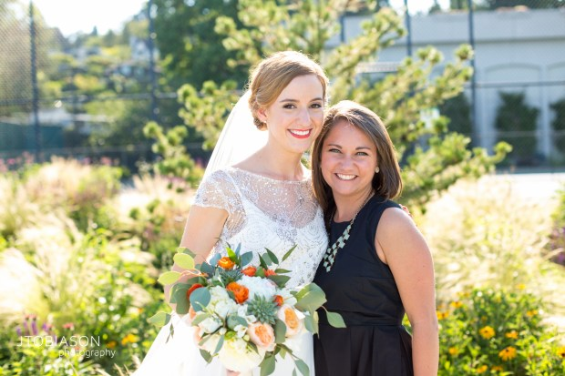 Seattle Tennis Club wedding in Seattle | Bride with Coordinator, Bridget from Perfectly Posh Events | Perfectly Posh Events, Seattle Wedding Planner | JTobiason Photography | Sublime Stems