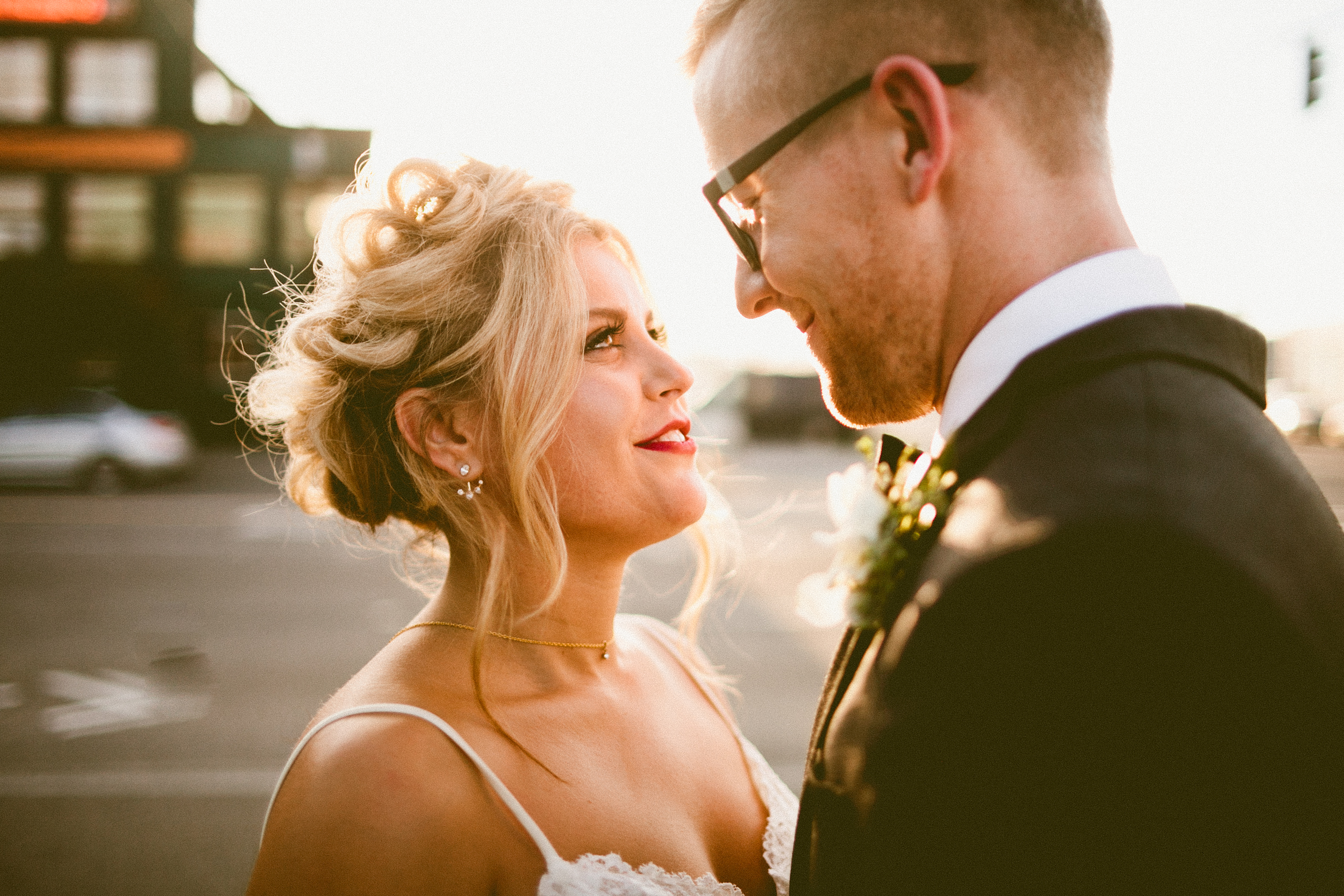 Sodo Park Wedding in Seattle | Seattle Bride & Groom close-up portrait | Perfectly Posh Events, Seattle Wedding Planner | Andria Lindquist Photography