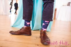 Seattle Wedding Show, I Do Sodo | Palm Springs Mid-Century flamingo socks | Perfectly Posh Events | Barbie Hull Photography