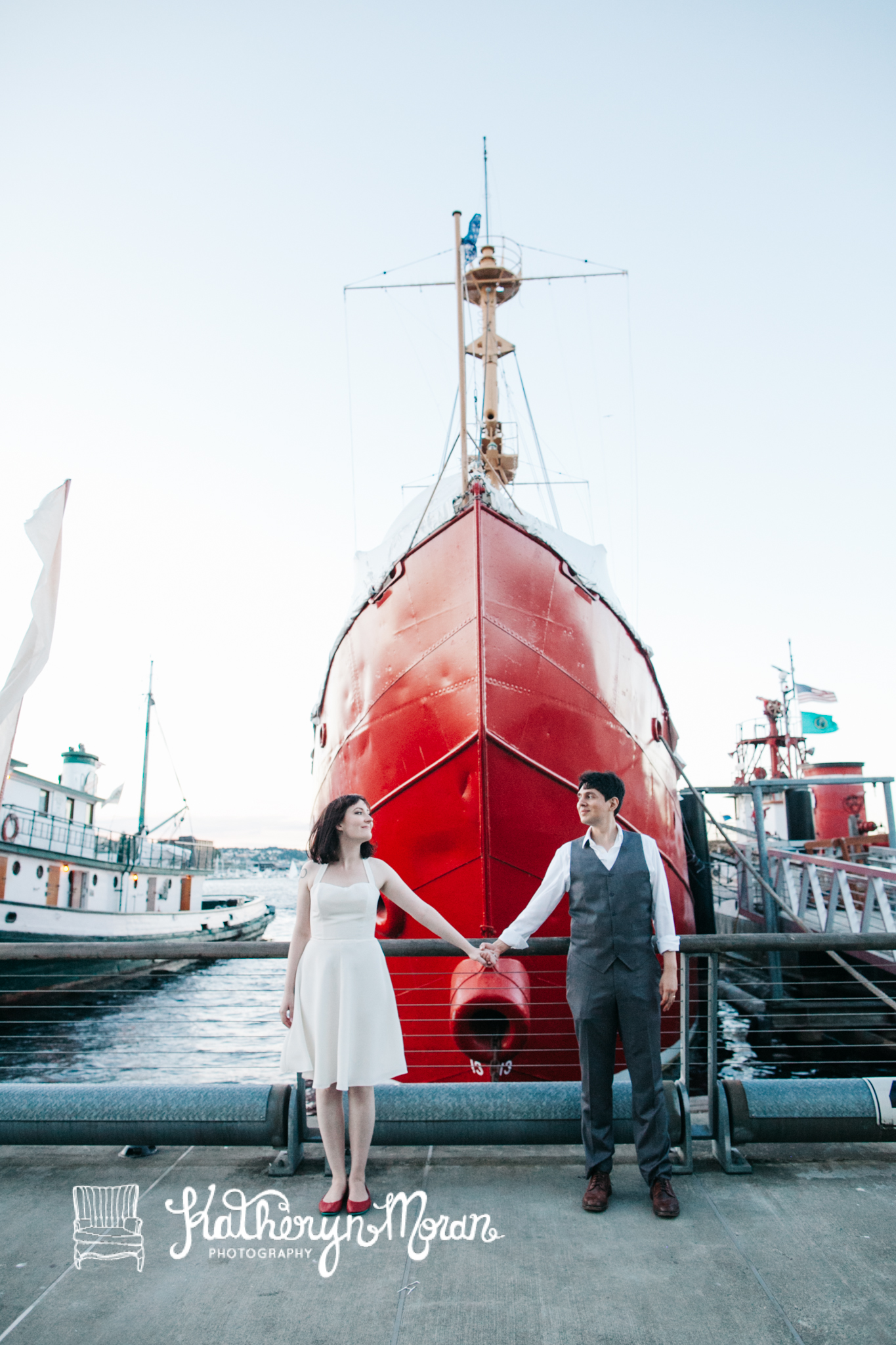 Center for Wooden Boats wedding in Seattle |Boat marina wedding pictures | Perfectly Posh Events, Seattle Wedding Planning | Kathryn Moran Photography
