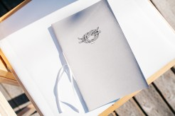 Center for Wooden Boats wedding in Seattle | Nautical ceremony program | Perfectly Posh Events, Seattle Wedding Planning | Kathryn Moran Photography