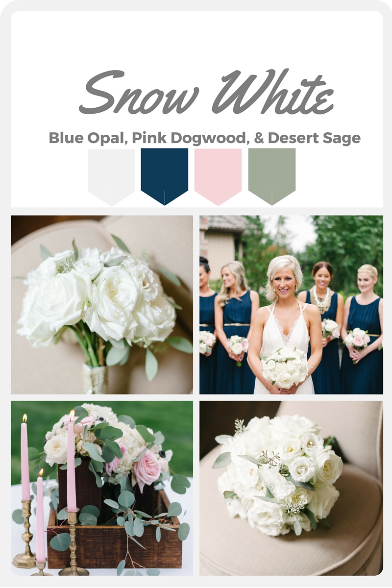 White Wedding Color Swatches from Pantone   Real wedding with Pantone color, Snow White   Design + Coordination by Perfectly Posh Events   Blue Rose Photography   Flowers by Butter & Bloom