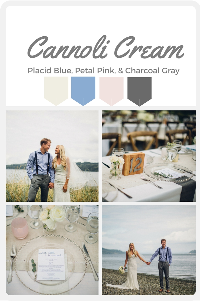 White Wedding Color Swatches from Pantone | Real wedding with Pantone color, Cannoli Cream | Design + Coordination by Perfectly Posh Events | Mike Fiechtner Photography | Flowers by Stacy Anderson Design