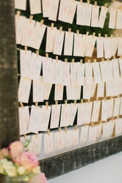 DeLille Cellars wedding in Woodinville | Rustic escort card display | Perfectly Posh Events | Lucid Captures Photography