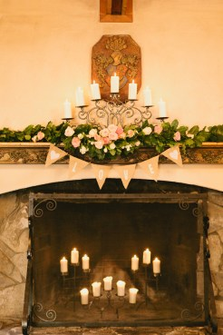 DeLille Cellars wedding in Woodinville   Fireplace mantle decor   Perfectly Posh Events   Lucid Captures Photography   Bella Signature Design