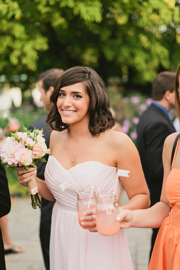 DeLille Cellars wedding in Woodinville | Pink Lemonade with mason jars | Perfectly Posh Events | Lucid Captures Photography