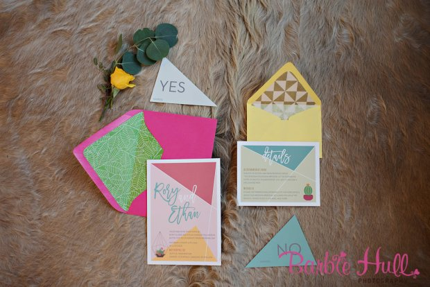 Seattle Wedding Show, I Do Sodo | Colorful invitation envelopes | Perfectly Posh Events | Barbie Hull Photography | Songbird Paperie