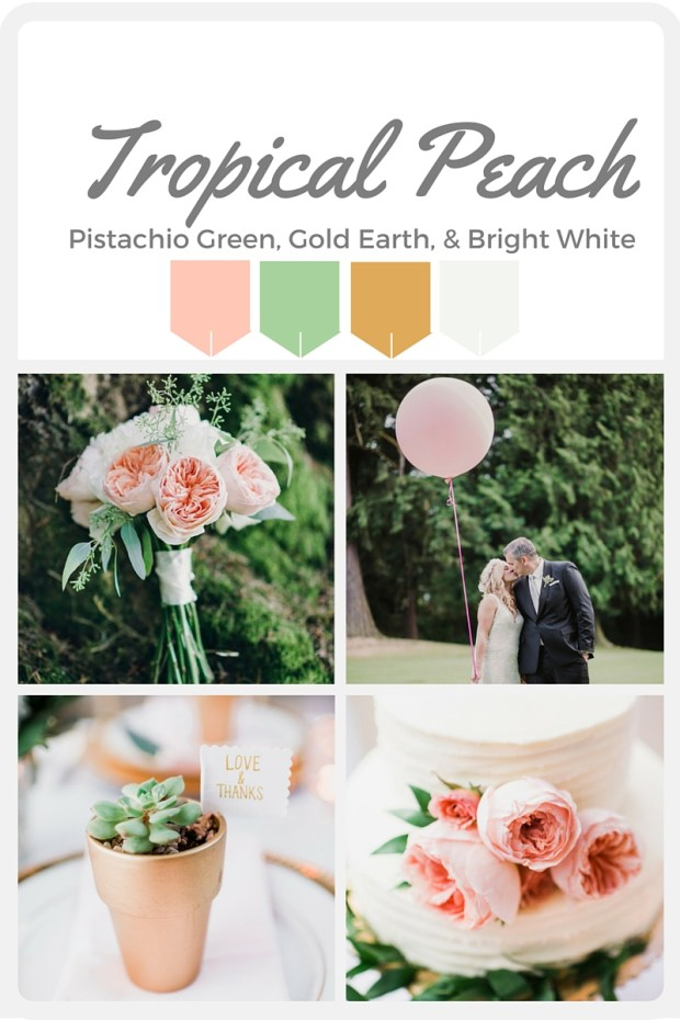Pink Wedding Color Swatches from Pantone | Real wedding with Pantone color, Tropical Pink | Designed + Coordinated by Perfectly Posh Events | Barrie Anne Photography | Floral Design by Butter & Bloom