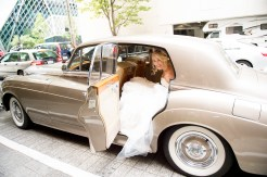 Sodo Park Wedding in Seattle | Vintage, told Rolls Royce getaway car | Perfectly Posh Events | Kimberly Kay Photography | British Motor Coach