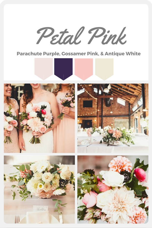 Pink Wedding Color Swatches from Pantone | Real wedding with Pantone color, Petal Pink | Coordinated by Perfectly Posh Events | Andria Lindquist Photography | Floral Design by