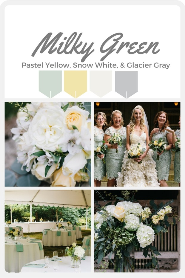 Green Wedding Color Swatches from Pantone | Real wedding with Pantone color, Milky Green | Coordinated by Perfectly Posh Events | Sparkfly Photography | Floral Design by
