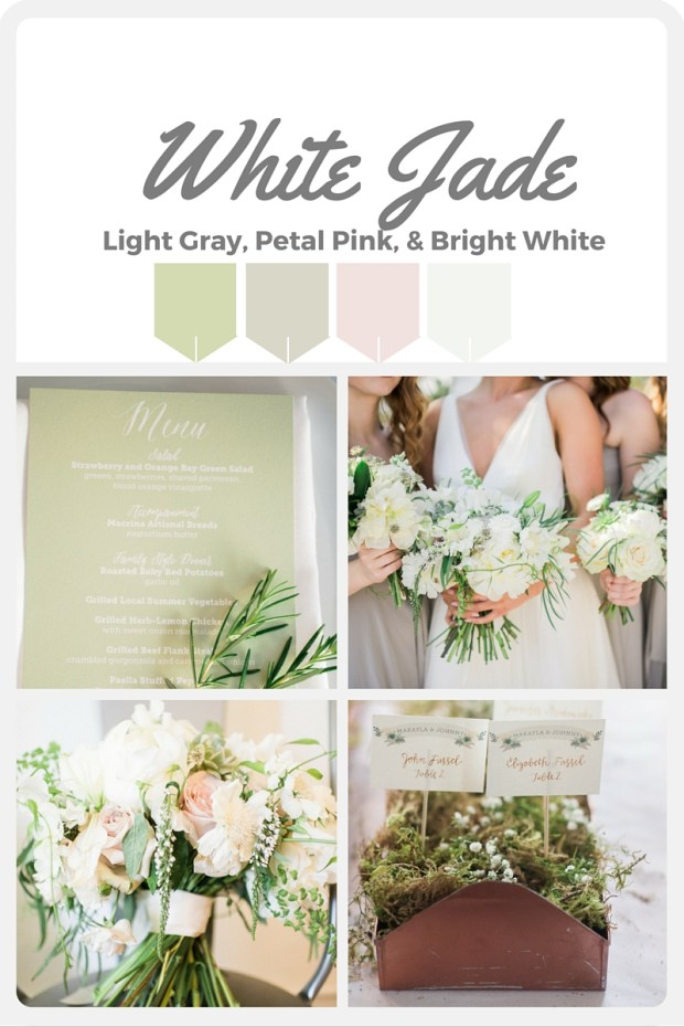 Green Wedding Color Swatches from Pantone   Real wedding with Pantone color, White Jade   Coordinated by Perfectly Posh Events   Alexandra Grace Photography   Floral Design by