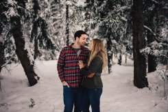 PNW Winter Engagement Shoots | PNW winter engagement shoot in snow-covered forest| Perfectly Posh Events | Roland Hale Photography