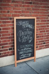 calligraphy direction sign | Golden Gardens Bathouse Wedding | Perfectly Posh Events, Seattle Wedding Planner | Andria Linquist Photography | Holly + Dustin Wedding // © Andria Lindquist 2014