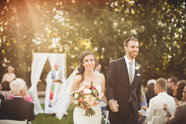 Outdoor wedding ceremony with lace backdrop | Golden Gardens Bathouse Wedding | Perfectly Posh Events, Seattle Wedding Planner | Andria Linquist Photography | Holly + Dustin Wedding // © Andria Lindquist 2014