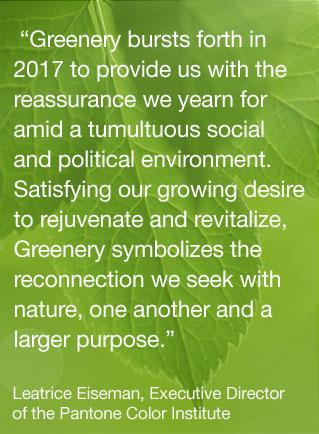 Greenery | Pantone | 2017 Pantone Color of the Year