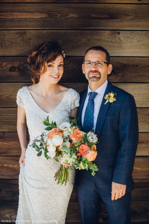 Hotel Ballard Wedding in Seattle | Stunning, garden style orange and white bridal bouquet | Perfectly Posh Events, Seattle Wedding Planner | Mike Fiechtner Photography | Floral Design by The London Plane