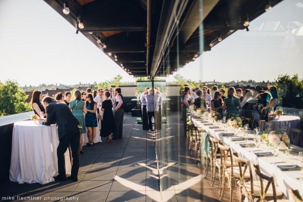 Hotel Ballard Wedding in Seattle, WA | Rooftop wedding in Seattle, Olympic Rooftop Pavilion | Perfectly Posh Events, Seattle Wedding Planner | Mike Fiechtner Photography