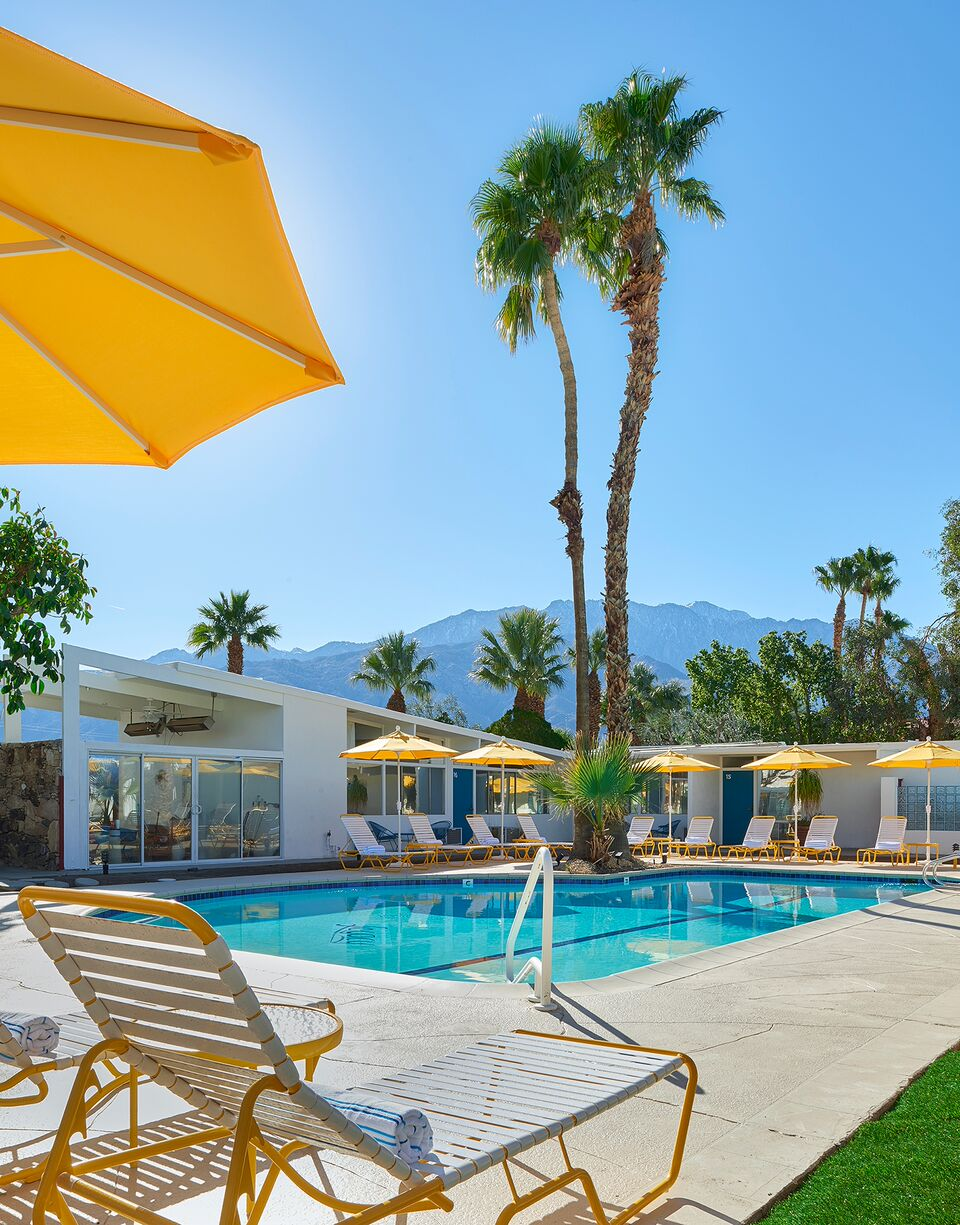 The Monkey Tree Hotel, Palm Springs wedding venue | poolside view | Perfectly Posh Events, Seattle and Portland Wedding Planner