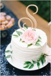 Small wedding cake with one tier | Private Estate Wedding in Woodinville| Perfectly Posh Events: Seattle and Portland Wedding Planner | Photo by Blue Rose Photography