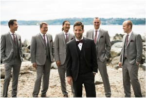 Groom posing with Groomsmen, Seattle wedding at Sodo Park, Perfectly Posh Events wedding planning and design, Seattle and Portland Wedding Planner, Photo by Kimberly Kay Photography
