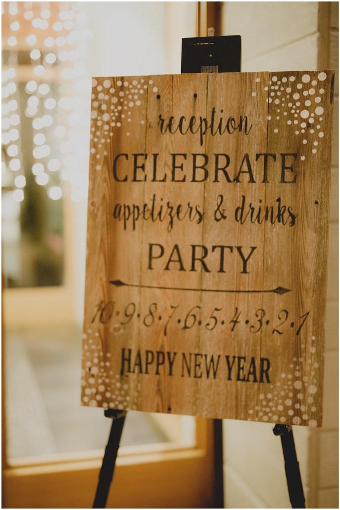 Custom made wedding reception on a rustic wood surface, New Years Eve wedding, Cedarbrook Lodge wedding, Seattle wedding, Perfectly Posh Events wedding planning, Washington wedding planner, Photo by Carly Bish