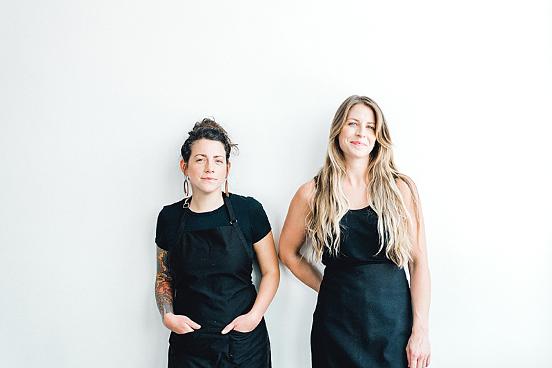 Bakery owners Johanna and Megan of Portland's Dream Cakes sits down for an interview by Portland wedding planner Perfectly Posh Events. Photo credit: Lauryn Kay Photography. #perfectlyposhevents