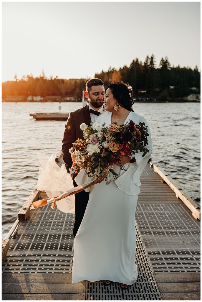 Boho wedding in Hood Canal the Pacific Northwest.
