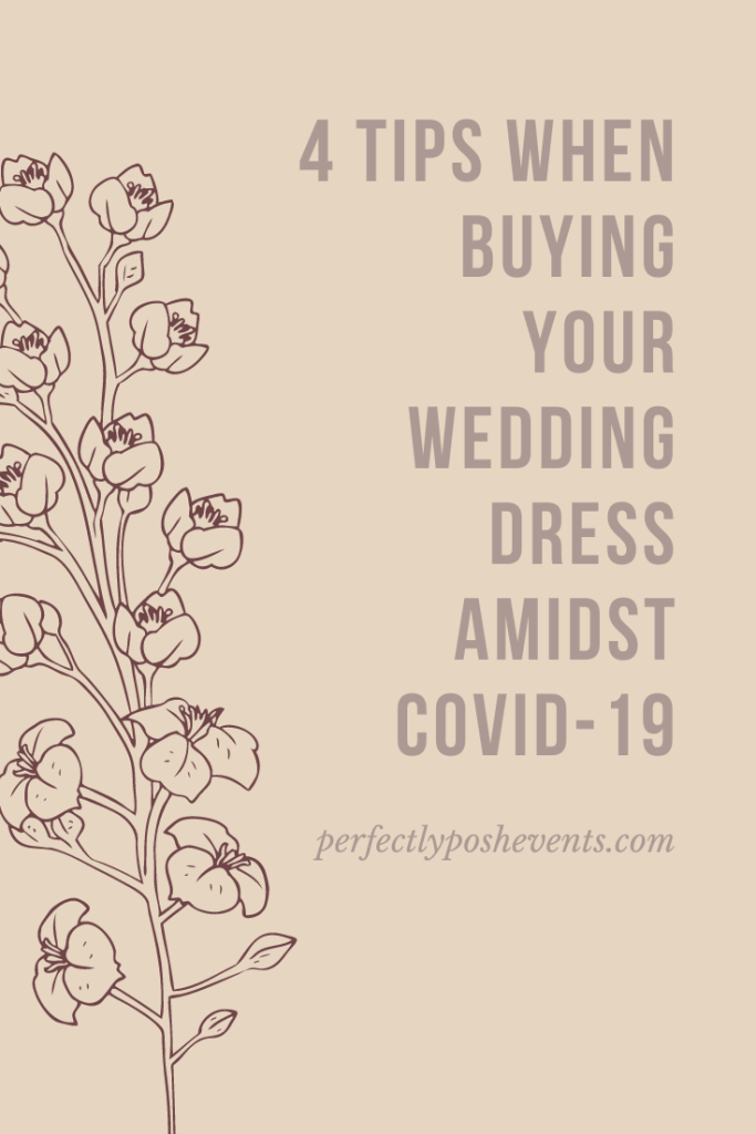 4 Tips When Buying Your Wedding Dress in Covid-19 | Presented by Perfectly Posh Events with Nyanza Bridal