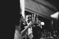 DeLille Cellars wedding in Woodinville | Bride & Groom toasting | Perfectly Posh Events | Seattle Wedding Planner | Andria Lindquist Photography