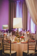 Venue: The Foundry by Herban Feast, Seattle WA | Floral Design: Butter & Bloom | Wedding Planning & Design: Perfectly Posh Events, Seattle Wedding Planner | Photographer: Carina Skrobecki Photography | mid-century modern wedding in Seattle, table top centerpieces with tall vintage and retro lamps