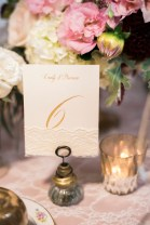 Gold calligraphy table nubmer vintage | Sodo Park Wedding in Seattle | Wedding Planning and Design by Seattle Wedding Planner Perfectly Posh Events | Kimberly Kay Photography | Floressence