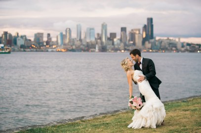 Bride & Groom in Seattle | Sodo Park Wedding in Seattle | Wedding Planning and Design by Seattle Wedding Planner Perfectly Posh Events | Kimberly Kay Photography | Floressence