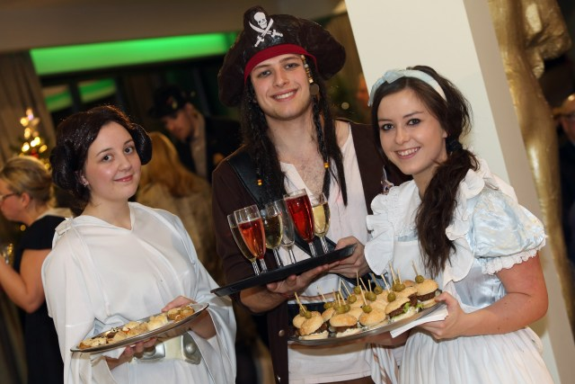 Hollywood-Inspired Servers at The Orangery Launch in light of the hotel's themed Christmas party offering