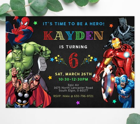 avengers birthday invitation archives