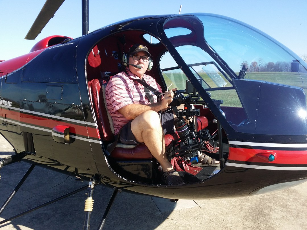 Motion Picture Filming in Cincinnati by Helicopter Red Dragon Movi M15